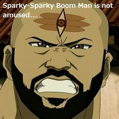 Daughtry as sparky sparky boom man - Avatar The Last Airbender.