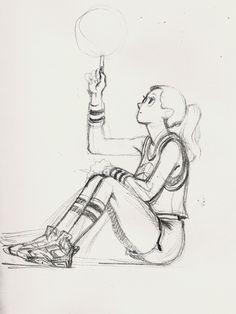 김종윤, Jungyoun Kim, Basketball Girl Sketch