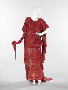 Evening Dress, Maria Gallenga (Italian, Rome 1880–1944 Umbria): ca. 1920, Italian, silk/metal/glass.