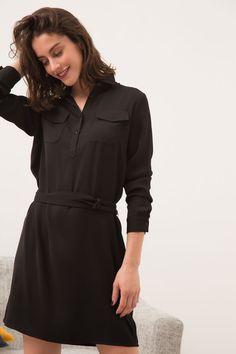 CAROLL - 90 € - Robe Francesca Robe, Vetement Femme En Ligne, Femmes Noires 09124e2ed72