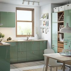 awesome The Meaning of Green Kitchen Cabinet Inspiration Painting your cabinets is a reasonable remedy to modify your cabinet color, however it isn't a long-l. Green Kitchen Cabinets, Kitchen Countertops, New Kitchen, Kitchen Decor, Kitchen Ideas, Awesome Kitchen, Sage Green Kitchen, Concrete Countertops, Updated Kitchen