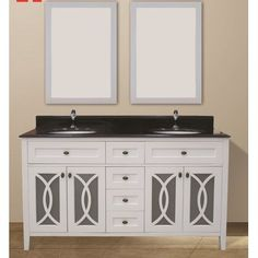 "NGY Stone & Cabinet Margaret Garden 60"" Double Bathroom Vanity Set"