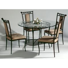 Black wrought iron table and chair sets 48 round wrought iron found it at wayfair wrought iron dining table workwithnaturefo
