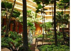 Lobby of the Hyatt Regency Maui!