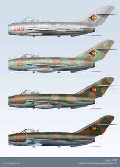 MiG-17F | Tarnschema