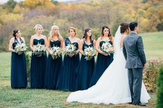 This beautiful navy and gold wedding at a Maryland manor immediately captured us with it's perfect autumn setting and elegance throughout. Got Married, Getting Married, Springfield Manor, Bridesmaid Dresses, Wedding Dresses, Bridesmaids, Wedding Preparation, Navy Gold, Blue Wedding