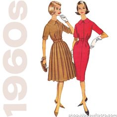 1960s Vintage Sewing Pattern: McCalls 5542 Misses Dress – WeSewRetro
