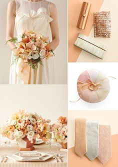 Peach with Classic Cream Color - 16 Most Refreshing and Trendy Spring Wedding Colors - EverAfterGuide