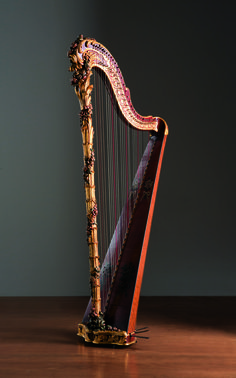 Single-action pedal harp - sabots/crochets system - France, 1760 circa - Museo dell'arpa Victor Salvi