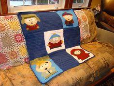 South Park Tunisian Crochet Afghan