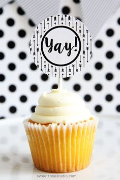 Black and White Graduation Party Printables 5