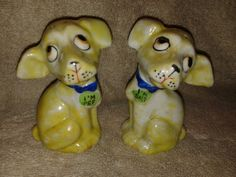 Vintage Dog Salt and Pepper Shakers by RobandJensOddsnEnds on Etsy