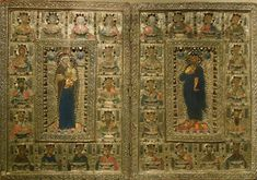 The Byzantine diptych or reliquary of the despots of Epirus (Commenos) of the fourteenth century