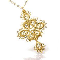 www.ORRO.co.uk - Brigitte Adolph - Gold Pendant Necklace - ORRO Contemporary Jewellery Glasgow