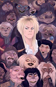 … A goblin babe. David Bowie Labyrinth, Labyrinth 1986, Labyrinth Movie, Live Action, Dark Fantasy, Fantasy Art, Sarah And Jareth, Jim Henson Labyrinth, Beloved Movie