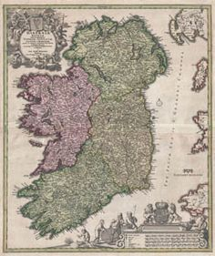 Map of Ireland 1716.