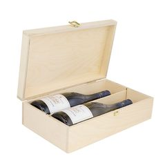 Two Bottle Hinged Wooden Wine Box