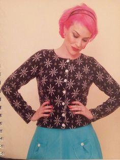 Gertie sews vintage casual - Fitted cardigan (variation)