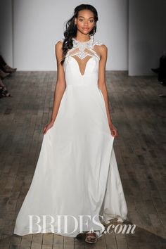 Delta Ivory Cashmere Wedding Dress With An A Line Silhouette