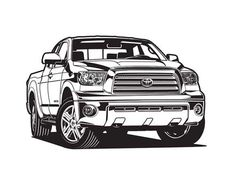 Automotive and product cutaway technical illustration Toyota Trucks, Toyota Cars, Toyota Hilux, 2012 Toyota Tundra, Car Drawing Pencil, Team Toyota, Chevy Hot Rod, Mustang Wallpaper, Chevy Nova