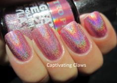 Layla Hologram Effect Retro Pink