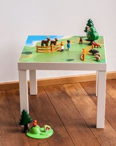 "Play table: Furniture sticker ""Playground"" for IKEA LACK side table (1M-ST02-02)"
