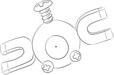 Magnemite coloring page from Generation I Pokemon category. Select from 20960 printable crafts of cartoons, nature, animals, Bible and many more.