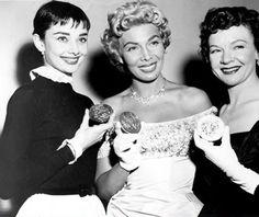Rare Audrey Hepburn — Audrey Hepburn receiving her Tony award for Best...