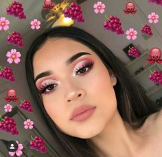 make up;make up for beginners;make up tutorial;make up for brown eyes;make up for hazel eyes;make up organization;make up ideas; Makeup Eye Looks, Eyeshadow Looks, Skin Makeup, Eyeshadow Makeup, Beauty Makeup, Pink Eyeshadow, Drugstore Makeup, Pink Eye Makeup, Eyeshadows