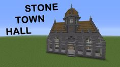 Small but adorable minecraft town hall Minecraft small castle Minecraft city Town hall