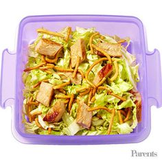 Dad of Noah, 7; host of Travel Channel's Bizarre Foods; and author of the upcoming Andrew Zimmern's Field Guide to Exceptionally Weird, Wild, and Wonderful Foods: An Intrepid Eater's Digest Pork salad Cucumber sticks with yogurt-dill dip Fruit salad