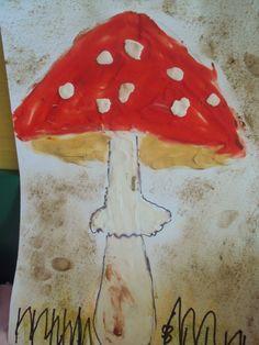 muchomůrka Art Projects, Projects To Try, Elementary Art, Kindergarten, Autumn, Kids, Mushroom, Young Children, Boys
