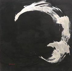 Original Abstract Painting by Sachiyo Kaneko Japanese Art Modern, Japanese Minimalism, Minimalism Art, Japanese Ink Painting, Chinese Painting, Chinese Art, Tinta China, Art Lesson Plans, Linocut Prints