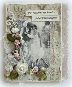 Heidi's wedding card, using Vintage Spring Basics