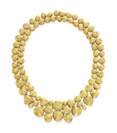 A gold necklace, by David Webb #christiesjewels