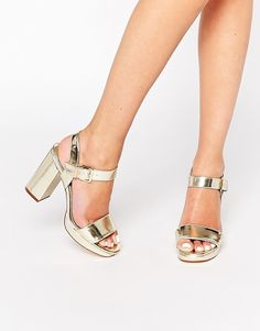 Miss+KG+Esther+Gold+Heeled+Sandals