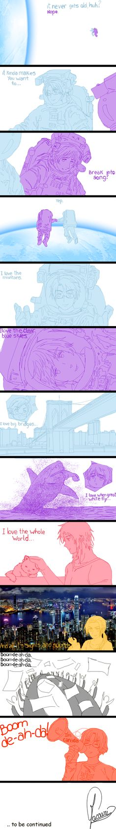 APH - BOOM DE-AH-DA - Part 1/3 by Silbido.deviantart.com on @deviantART I love this so much!