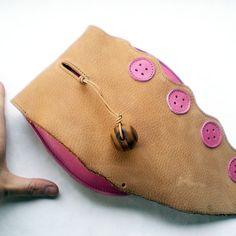 Handmade Leather clutch Purse Bag Caramel Bubblegum by Fairysteps, £38.00