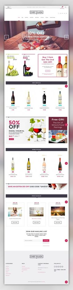 Chef Plaza Food And Wine Store WooCommerce Theme E-commerce Templates, WooCommerce Themes, Food & Restaurant, Drink, Wine Templates Use this modern responsive Wine Bar WooCommerce Theme to build an impressive online store selling food and drinks. Its clean design based on a light color palette will help you eas...