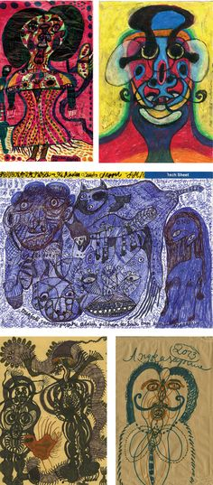 Noviadi Angkasapura: works of the outsider artist from Indonesia:  these, many others and many other artists from all over the world are to be found on www.outsider-art-brut.ch.