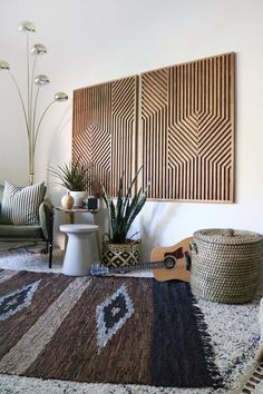 Your place to buy and sell all things handmade : Wood Art Wood Wall Art Geometric Wood Art Geometric Wall Reclaimed Wood Art, Rustic Wood, Diy Wood, Modern Wall Art, Wood Wall Art, Wood Walls, Decor Interior Design, Interior Decorating, Decorating Tips