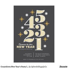 Countdown New Year's Party Invitations