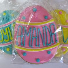 Personalized Easter Cookies!  Great for Easter basket!