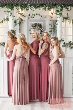 Bridesmaid Dress // Infinity Dress // Convertible Dress // Wrap Dress // Prom Dress // Multiway Dress // Party Dress //Ship from New York Dusty Rose Bridesmaid Dresses, Infinity Dress Bridesmaid, Dusty Rose Dress, Blue Bridesmaids, Wedding Bridesmaid Dresses, Dress Wedding, Prom Dresses, Evening Dresses, Long Dresses