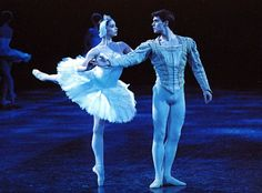 Roberto Bolle and Polina Semionova in English National Ballet's Swan Lake
