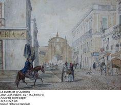 1855-1876, Jean Léon Pallière: La puerta de la Ciudadela de Montevideo.