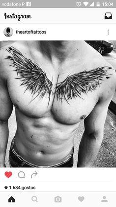 Wings tattoo guy