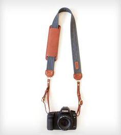 Leather Camera Strap – Graphite