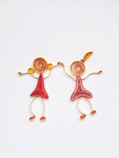 Quilled Friends Greeting card Girls