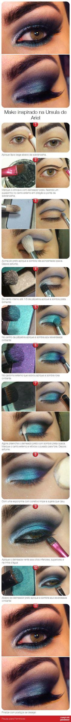 Make inspirado na Ursula de Ariel via pindemy.com